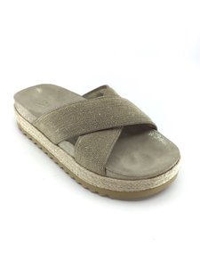 Brunello Cucinelli Platinum/ Natural Sandals
