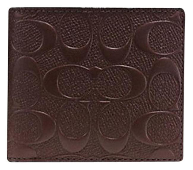 Coach Brown In Signature Crossgrain Leather F75363 Wallet Coach Brown In Signature Crossgrain Leather F75363 Wallet Image 1