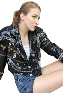 American Vintage Beaded Sequin Cocktail 1980s Jacket