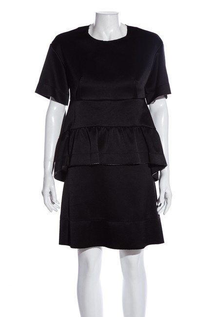 Marni Black Tiered Short Cocktail Dress Size 8 (M) Marni Black Tiered Short Cocktail Dress Size 8 (M) Image 1