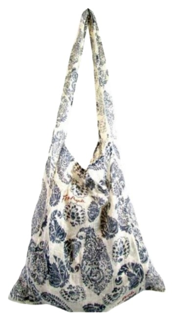 Item - Bag Blue and White Fabric Tote