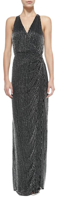 Item - Theron Sleeveless Beaded Halter-neck 6 Black/Silver Top