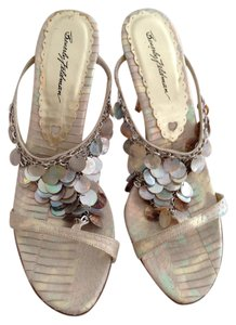 Beverly Feldman Pearlescent Sandals