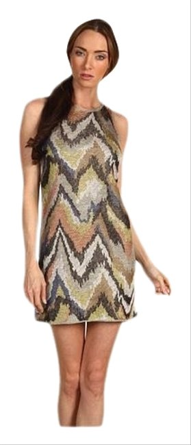 Item - Brown Zili Sag Harbor Abstract Print Mini Short Cocktail Dress Size 8 (M)