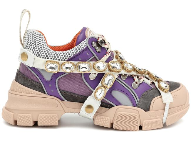 Item - Purple Journey Flashtrek Lavender Jewel Crystal Lace Up Hiker Boot Sneakers Size EU 36 (Approx. US 6) Regular (M, B)