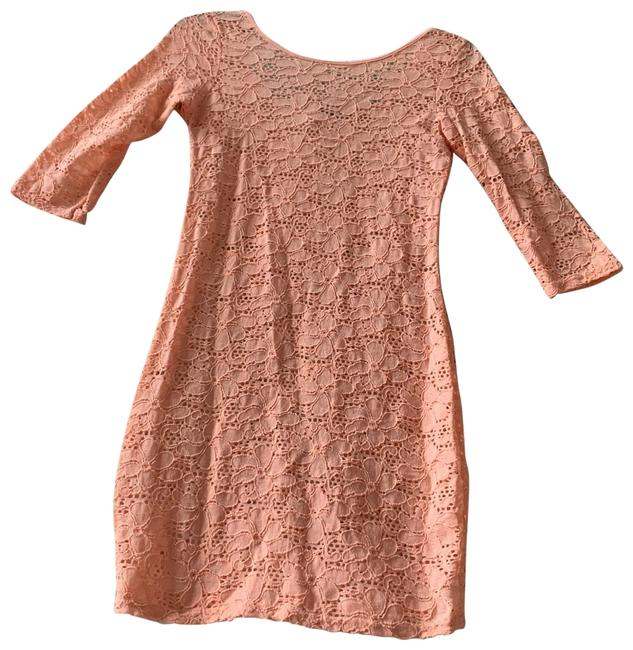 Item - Peach 3/4 Sleeve Lace and Long Cami Tunic Size 8 (M)