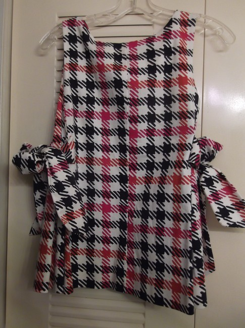RED Valentino Top Red, Black and White
