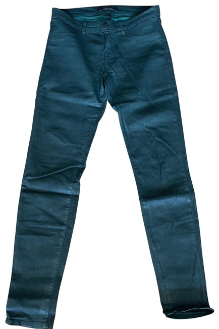 Item - Dark Green Coated Super #9011596 Tex C Conf Skinny Jeans Size 8 (M, 29, 30)