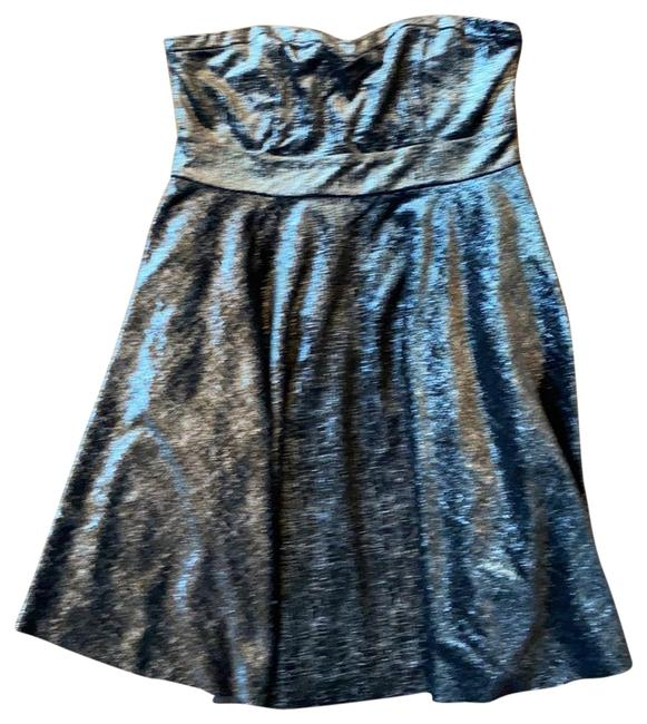 Free People Black with Silver and Gold Sparkles Short Casual Dress Size 4 (S) Free People Black with Silver and Gold Sparkles Short Casual Dress Size 4 (S) Image 1