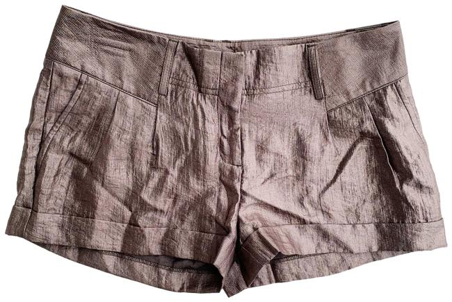 "Item - Copper Bronze Silver Metallic The Editor 2.5"" Shorts Size 6 (S, 28)"