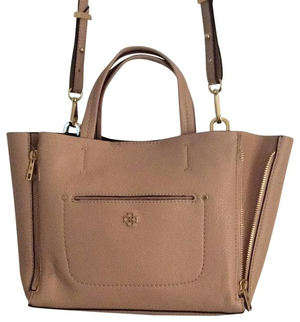 Item - Camel Leather Cross Body Bag