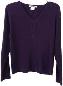 Acorn Spring Soft V-neck Winter Top Purple