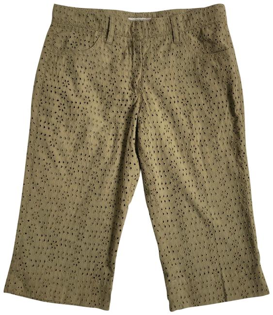 Item - Olive Green London Floral Eyelet Shorts Size 4 (S, 27)