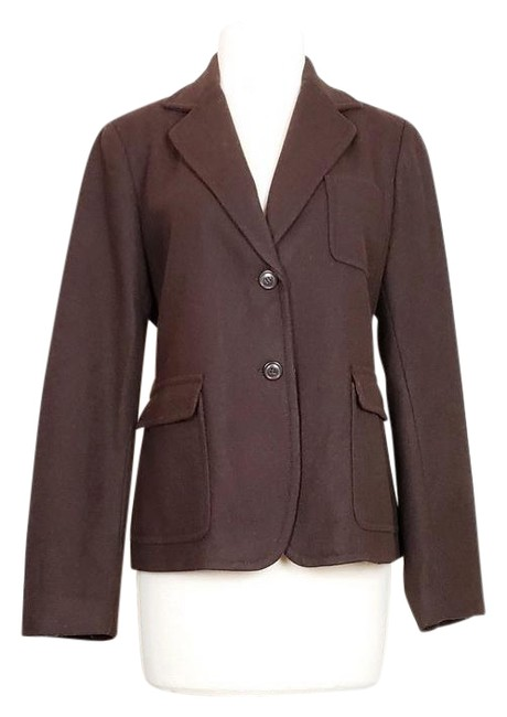 Item - Brown Wool Blend Blazer Size 8 (M)