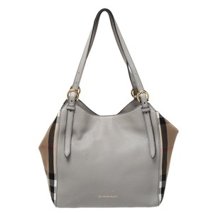 Burberry Canvas Leather Tote in Grey
