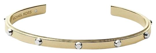 Michael Kors MICHAEL KORS Bracelet Cuff Gold Silver Two Tone Studded