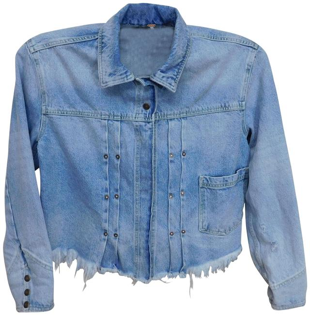 Item - Blue A88 Women's Distressed Jean Medium Jacket Size 8 (M)