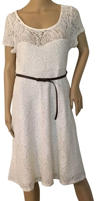 Ivory Mid-length Formal Dress Size 12 (L) Ivory Mid-length Formal Dress Size 12 (L) Image 1