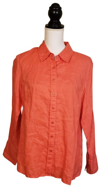 Preload https://img-static.tradesy.com/item/27086289/soft-surroundings-orange-button-down-top-size-6-s-0-1-650-650.jpg
