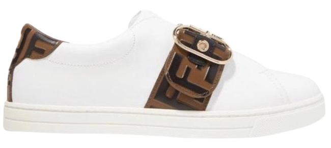 Fendi Ff Logo Embossed Leather Sneakers Size EU 38.5 (Approx. US 8.5) Regular (M, B) Fendi Ff Logo Embossed Leather Sneakers Size EU 38.5 (Approx. US 8.5) Regular (M, B) Image 1