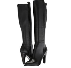 Frye Stretch Leather Black Boots
