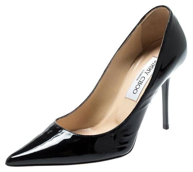 Jimmy Choo Black Patent Leather Romy Pointed Pumps Size US 4.5 Regular (M, B) Jimmy Choo Black Patent Leather Romy Pointed Pumps Size US 4.5 Regular (M, B) Image 1
