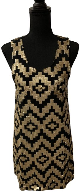 Preload https://img-static.tradesy.com/item/27086391/sass-and-bide-black-and-gold-playman-mid-length-cocktail-dress-size-petite-6-s-0-3-650-650.jpg
