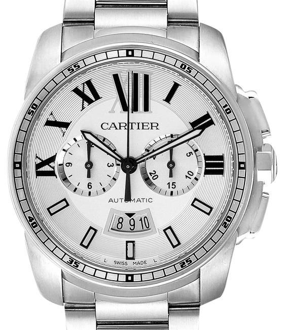 Cartier Silver Box Calibre Dial Chronograph Mens W7100045 Papers Watch Cartier Silver Box Calibre Dial Chronograph Mens W7100045 Papers Watch Image 1