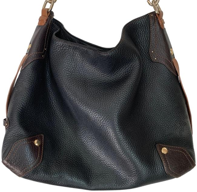 Cole Haan Pebbled Black Leather Hobo Bag Cole Haan Pebbled Black Leather Hobo Bag Image 1