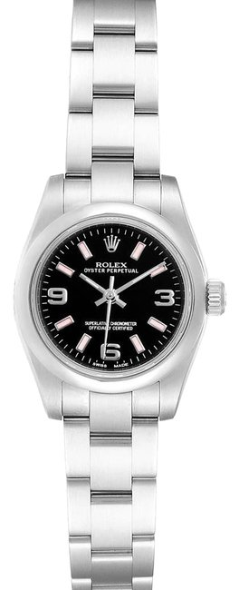 Rolex Black Box Nondate Dial Pink Hour Markers Ladies 176200 Watch Rolex Black Box Nondate Dial Pink Hour Markers Ladies 176200 Watch Image 1