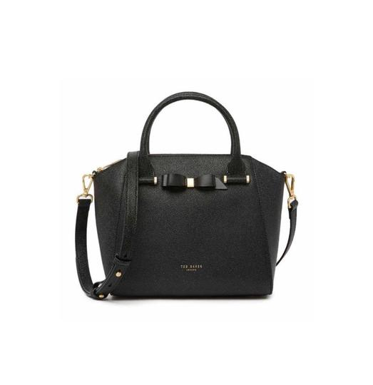 Preload https://img-static.tradesy.com/item/27086596/ted-baker-new-london-janne-bow-leather-tote-black-satchel-0-0-540-540.jpg