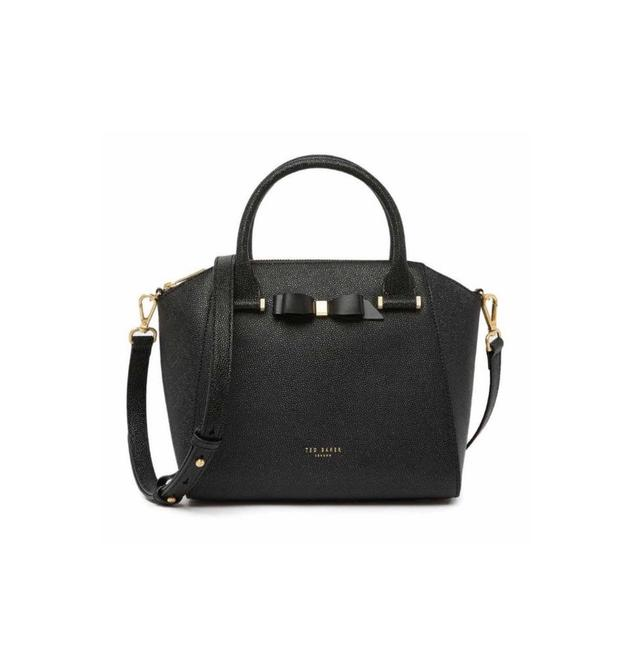 Ted Baker New London - Janne Bow Leather Tote Black Satchel Ted Baker New London - Janne Bow Leather Tote Black Satchel Image 1