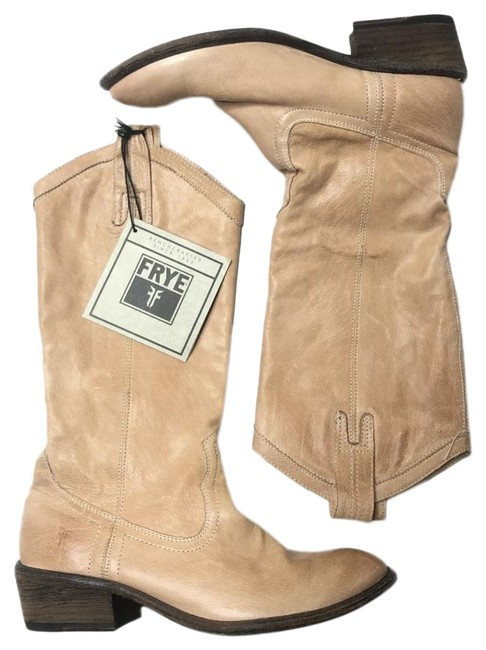 Frye Tan New Carson Pull On Leather Cowboy Western Rare Boots/Booties Size US 6 Regular (M, B) Frye Tan New Carson Pull On Leather Cowboy Western Rare Boots/Booties Size US 6 Regular (M, B) Image 1