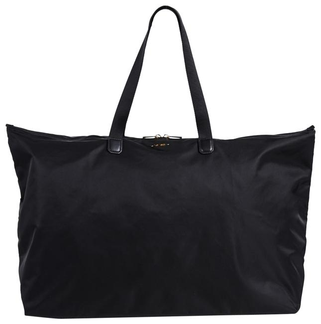Item - New 2pcs Packable Large Duffel Tote with Pouch Black Nylon Weekend/Travel Bag
