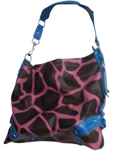Preload https://item3.tradesy.com/images/pink-brown-and-blue-faux-leather-hobo-bag-270867-0-0.jpg?width=440&height=440