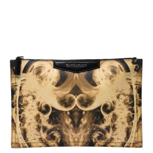 Givenchy Print Yellow Clutch