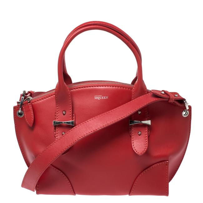Alexander McQueen Small Legend Red Leather Tote Alexander McQueen Small Legend Red Leather Tote Image 1