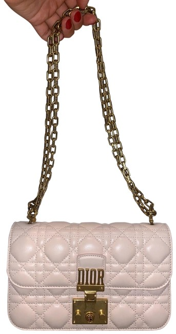 Dior Flap Addict Cannage Pink Lambskin Leather Cross Body Bag Dior Flap Addict Cannage Pink Lambskin Leather Cross Body Bag Image 1