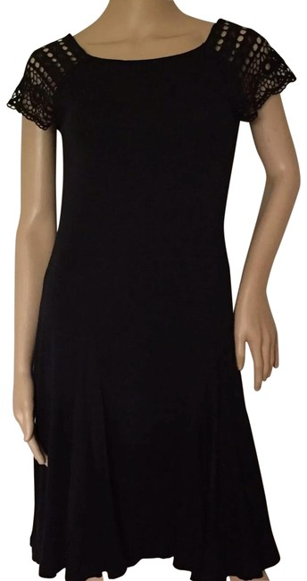 Black Mid-length Short Casual Dress Size 4 (S) Black Mid-length Short Casual Dress Size 4 (S) Image 1