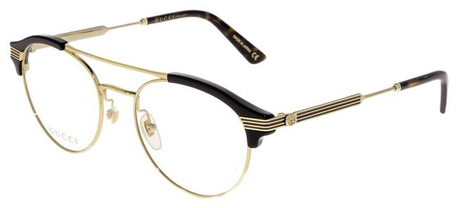 Gucci Black 0289 Gold Round 51mm Gg0289o Optical Frame Sunglasses Gucci Black 0289 Gold Round 51mm Gg0289o Optical Frame Sunglasses Image 1