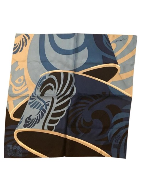 Frey Wille Blue Black Sphinx Gavroche Scarf/Wrap Frey Wille Blue Black Sphinx Gavroche Scarf/Wrap Image 1