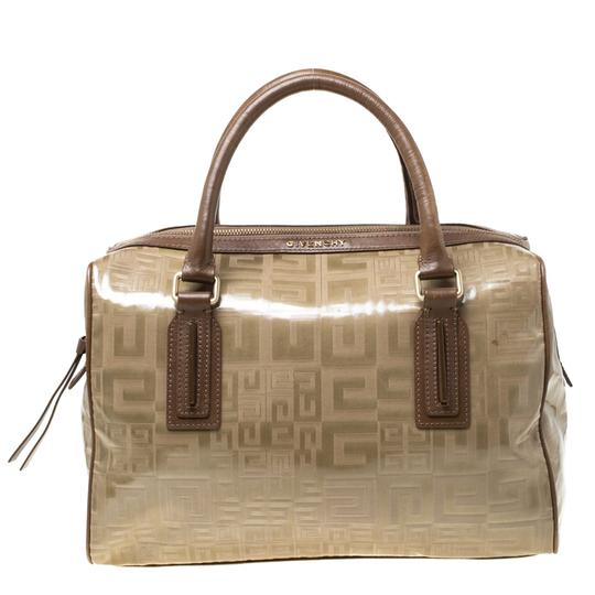 Preload https://img-static.tradesy.com/item/27086892/givenchy-coated-canvas-and-brown-leather-satchel-0-0-540-540.jpg