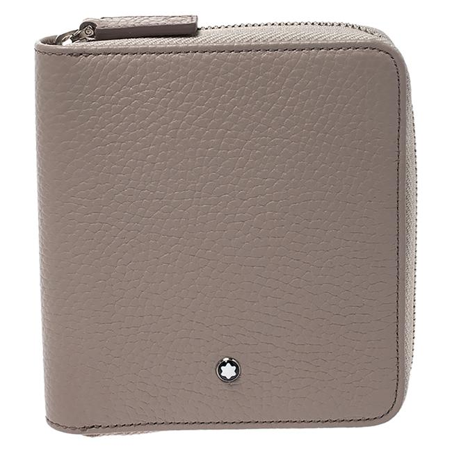 Montblanc Beige Leather Zip Around Wallet Montblanc Beige Leather Zip Around Wallet Image 1