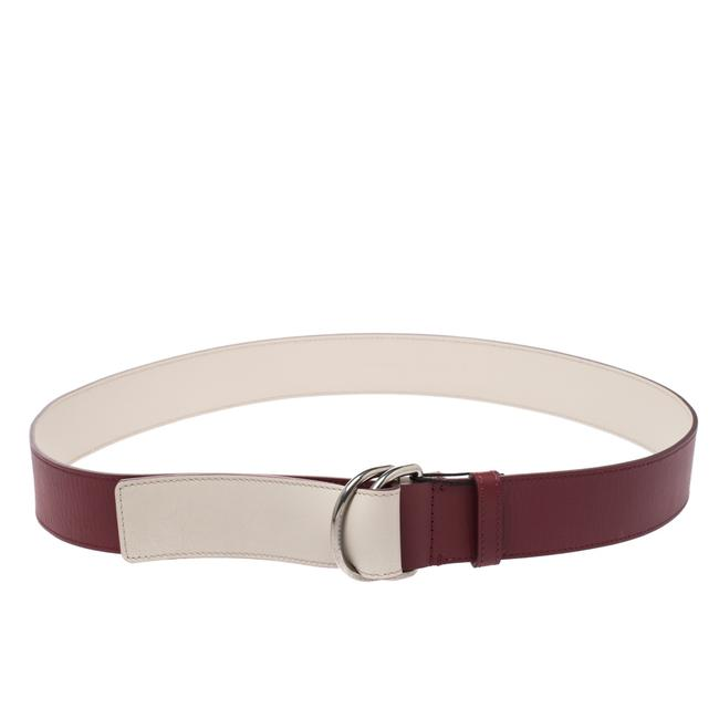 Burberry Burgundy Leather Double D-ring 120cm Belt Burberry Burgundy Leather Double D-ring 120cm Belt Image 1