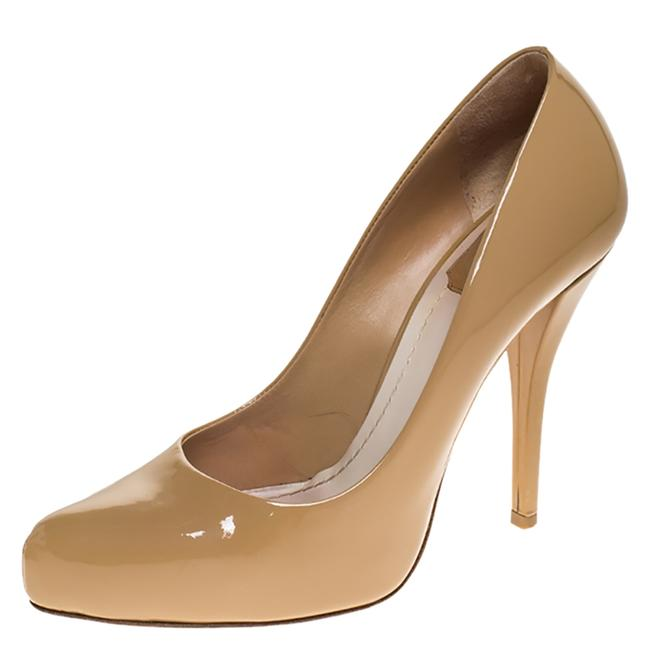 Dior Beige Patent Leather Platform 36.5 Pumps Size US 6.5 Regular (M, B) Dior Beige Patent Leather Platform 36.5 Pumps Size US 6.5 Regular (M, B) Image 1
