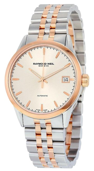 Raymond Weil Silver Gold Men's Freelancer 2740-sp5-65011 Steel 42mm Watch Raymond Weil Silver Gold Men's Freelancer 2740-sp5-65011 Steel 42mm Watch Image 1