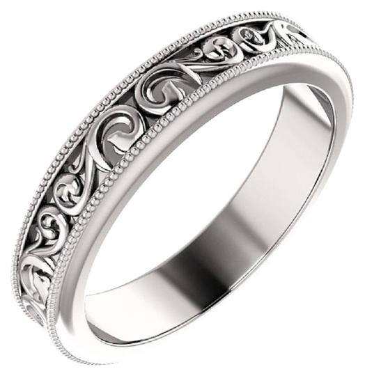 Preload https://img-static.tradesy.com/item/27087182/apples-of-gold-silver-paisley-pattern-wedding-band-ring-0-1-540-540.jpg