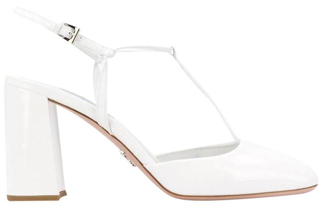 Prada White Gr Patent Leather T-bar Pumps Size EU 37 (Approx. US 7) Regular (M, B) Prada White Gr Patent Leather T-bar Pumps Size EU 37 (Approx. US 7) Regular (M, B) Image 1