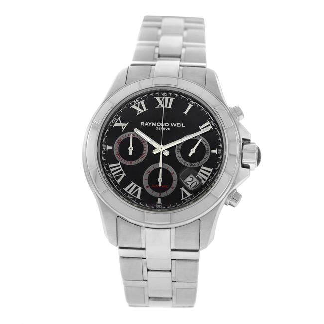 Raymond Weil Silver Men's Parsifal 7260-st-00208 Steel Chrono Date Watch Raymond Weil Silver Men's Parsifal 7260-st-00208 Steel Chrono Date Watch Image 1