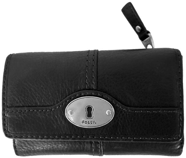 Fossil Black Leather Wallet Fossil Black Leather Wallet Image 1